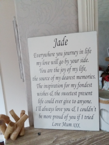 A Personalised Wooden Board With Your Own Text